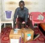 Receiving Birthing Kits for distribution
