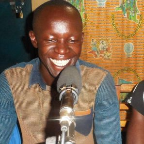 Innocent teaching about sustainable agriculture on radio