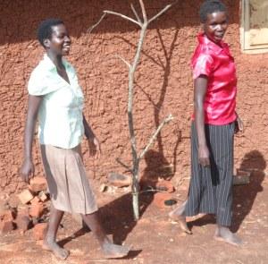 Women modelling their new garments in Jalasiga.