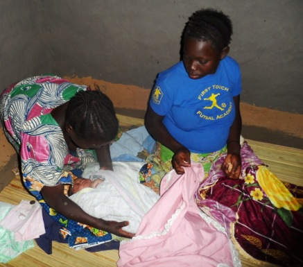 Four hours after birth; a mother aided to have a safe and hygienic birth through the birthing kits