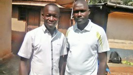 Director Anecho Innocent welcoming new team member, Dr Paul Abekwo