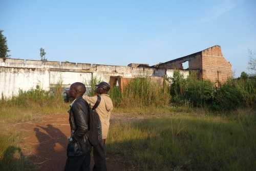 The remains of a processing plant in Mahagi area.
